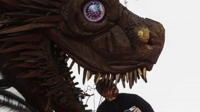 The animatronic dragon from Game of Thrones