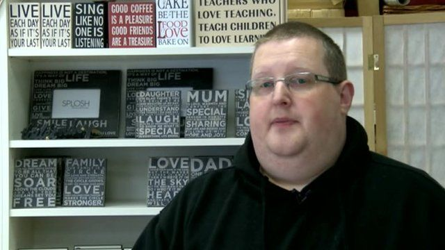 Jonathan, owner of Emilia May Gifts in Llanelli