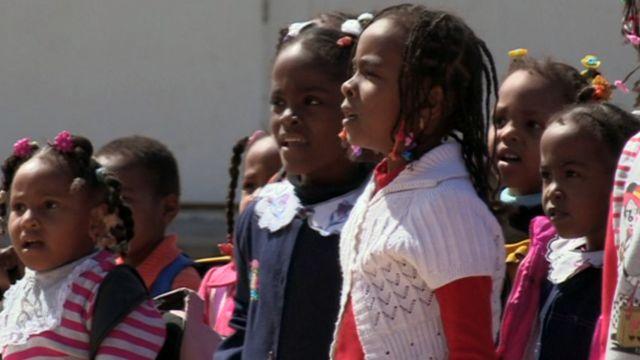Children from Tawergha community in Libya