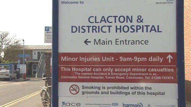 Clacton Hospital sign