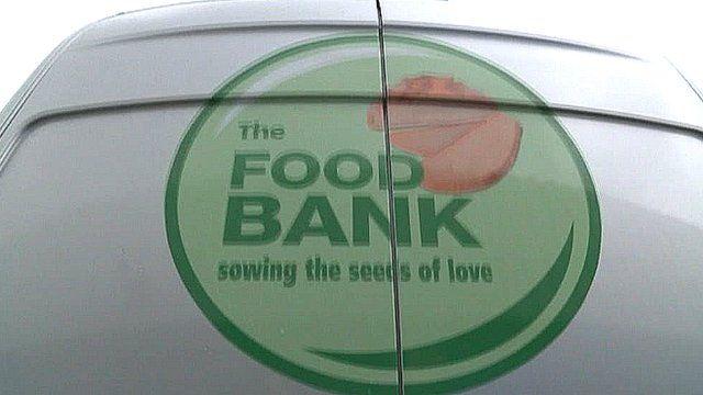 Food bank delivery van