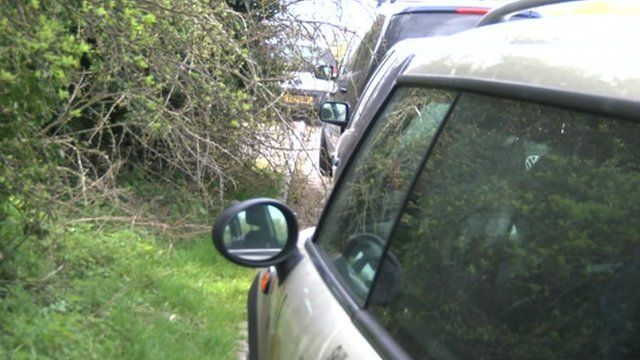 Cars parked on verges