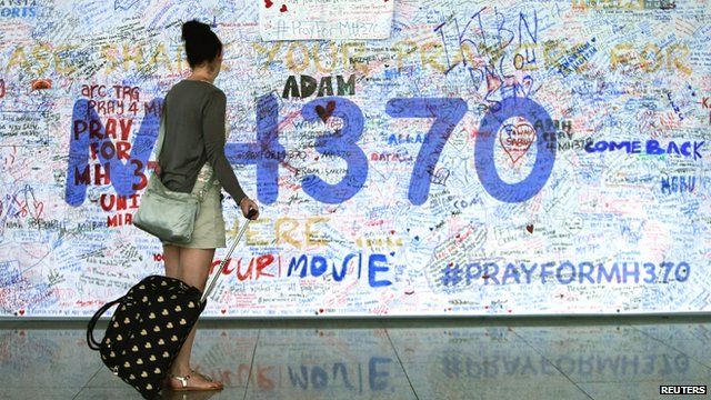 Messages of support for MH370, Kuala Lumpar International Airport