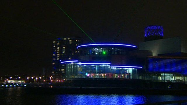 The lasers are on show at the Lowry