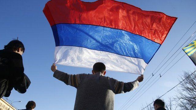 Pro-Russian rally in Donetsk, eastern Ukraine