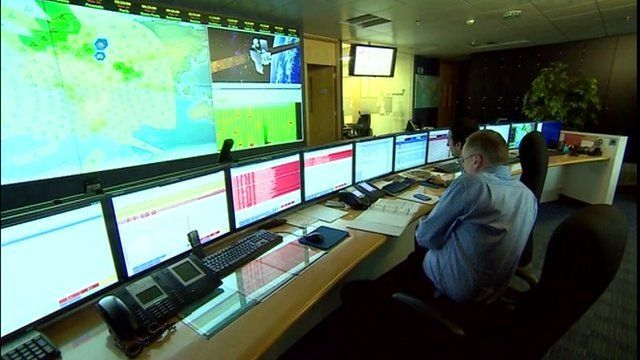 Inside Inmarsat's operations room