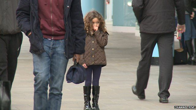 Young girl pretends to be lost for Channel 5 experiment