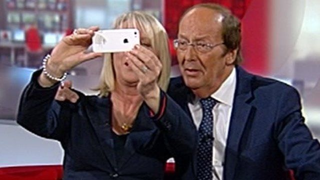 Sally Taylor and Fred Dinenage take a selfie