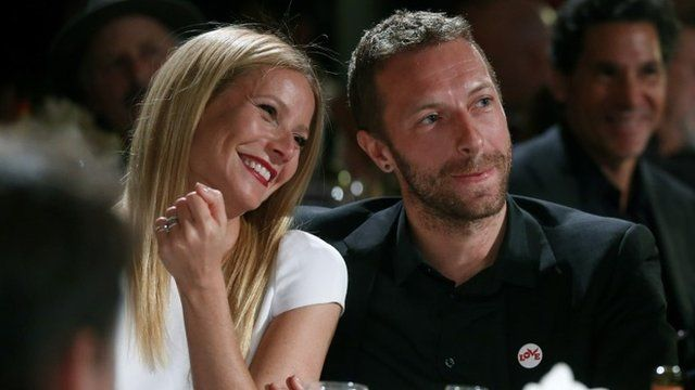 Gwyneth Paltrow and Chris Martin in January