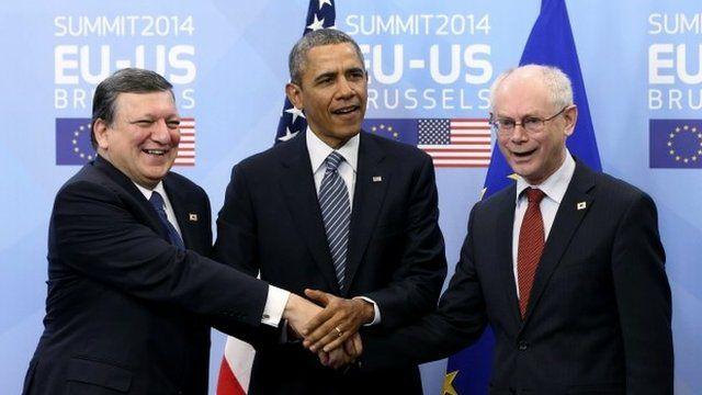 Jose Manuel Barroso, Barack Obama, Herman Van Rompuy