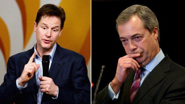Nick Clegg and Nigel Farage
