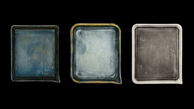 John Cyr's photos of famous photographers' developer trays