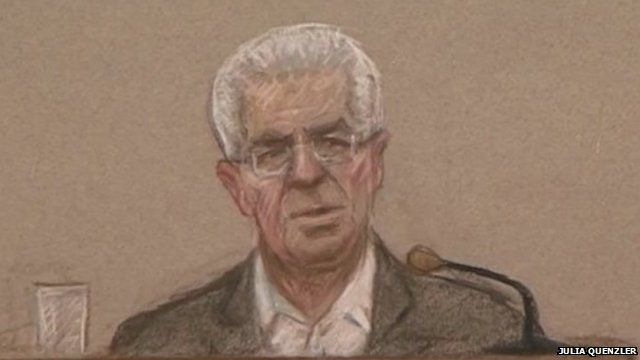 Court drawing of Max Clifford