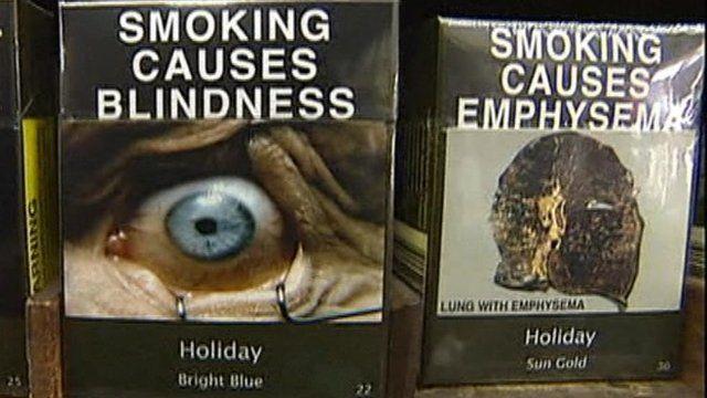 Warnings on cigarette packs