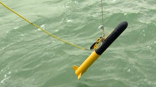 'The fish' sonar device