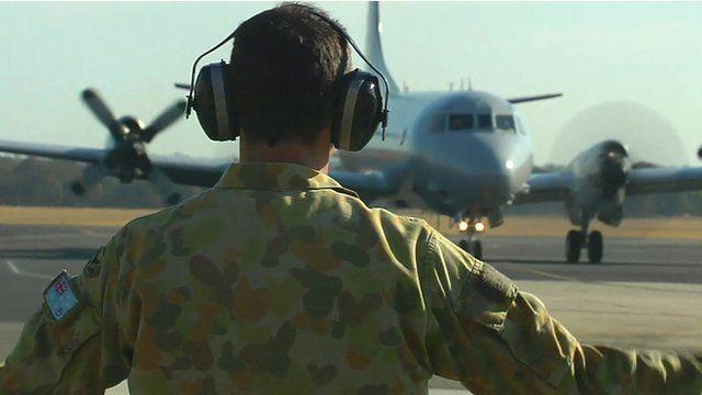 Search plane on tarmac in Australia