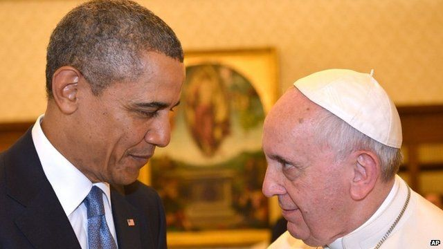 Barack Obama and Pope Francis