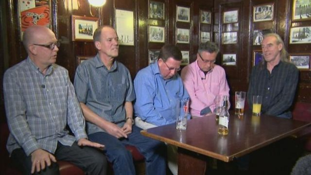 Calum Grierson, Aitken Hunter, John Robson, Ian Kelly and Danny Docherty
