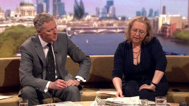 Rory Bremner and Baroness Grender review the papers