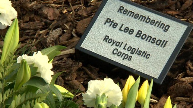 Private Lee Bonsall memorial