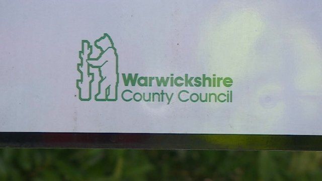 Warwickshire County Council sign