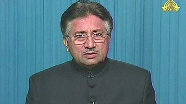 Library photo of Pervez Musharraf