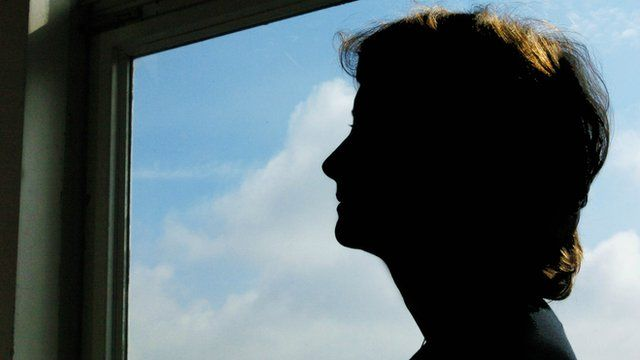 Silhouette of an anonymous woman