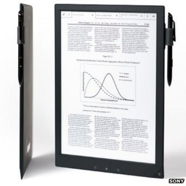 Sony unveils digital paper tablet