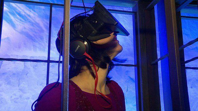 Click's LJ Rich wears an Oculus Rift