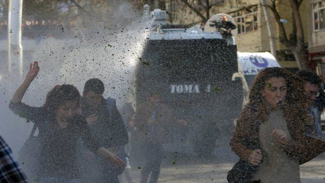 Riot police in Turkey