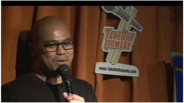 Jameson Gong, of TakeOut Comedy