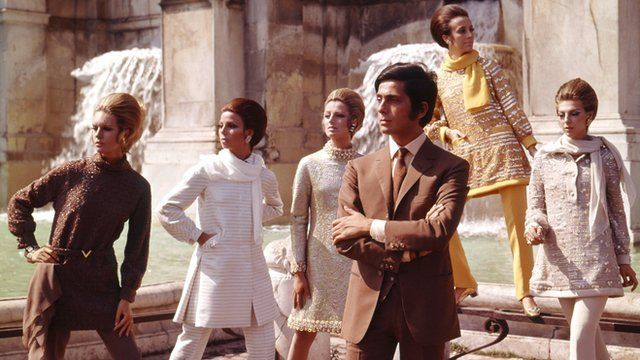 Valentino and his models