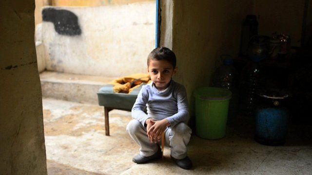 A Syrian child