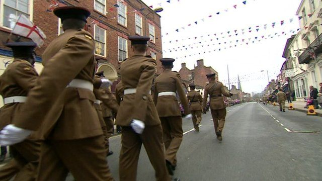 Mercian regiment in Ashbourne