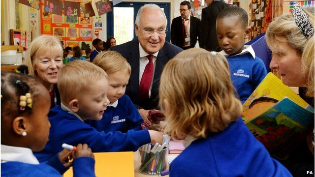 Sir Michael Wilshaw visits Windrush Nursery in Woolwich