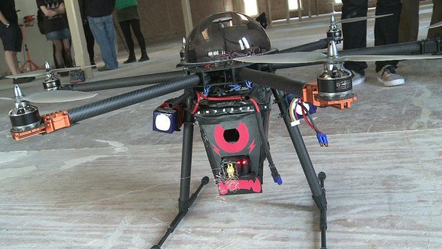 Why a drone called Cupid is fitted with a stun gun