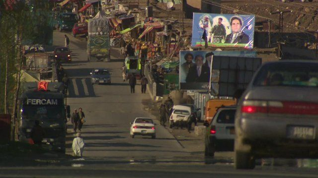 Campaign posters line Afghanistan's streets
