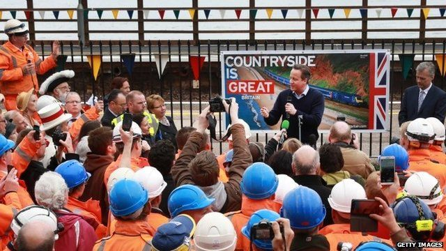 PM David Cameron visits Dawlish as train line reopens