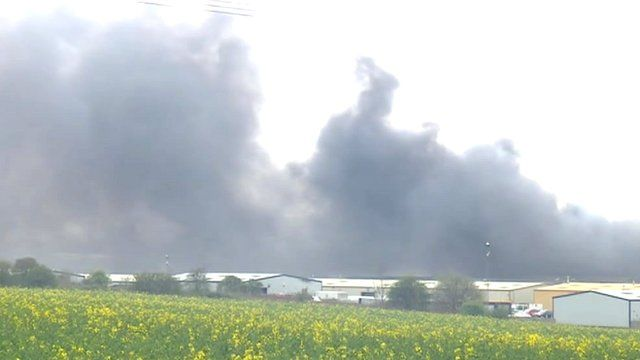 Wellingborough recycling centre fire