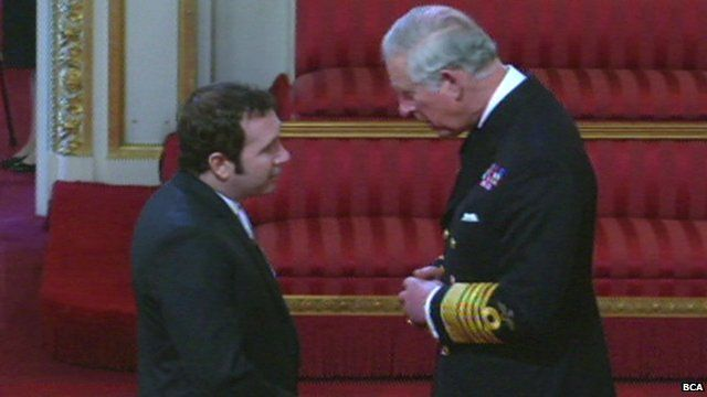 Darren Conway meets Prince Charles