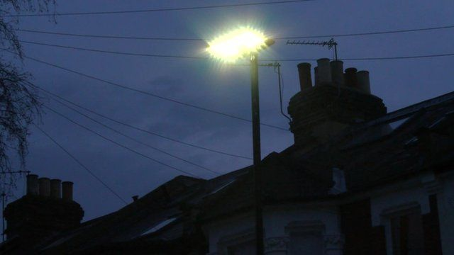 The new street lamps in Hounslow