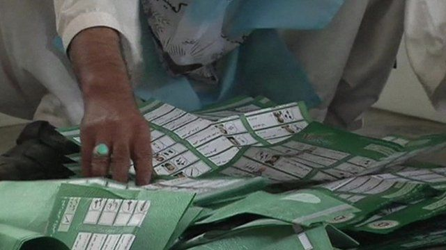Pile of ballot papers on floor