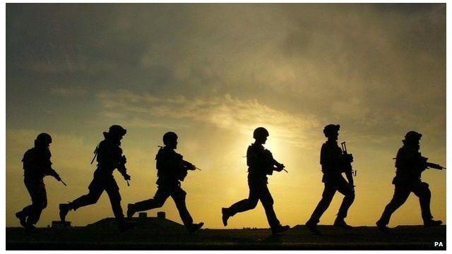 British troops training in Basra, Iraq