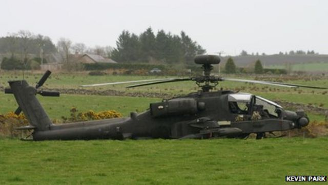Army Apache helicopter makes emergency landing in Maryculter field