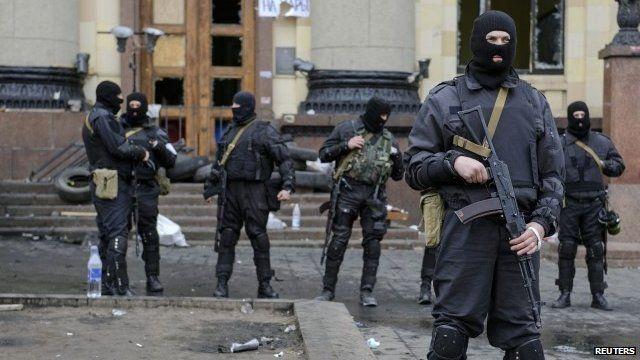 Ukrainian special forces in Kharkiv