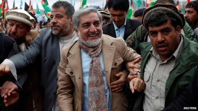 Leading candidates raise the stakes in Afghan elections