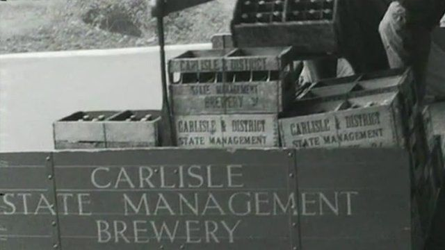 Beer in crates