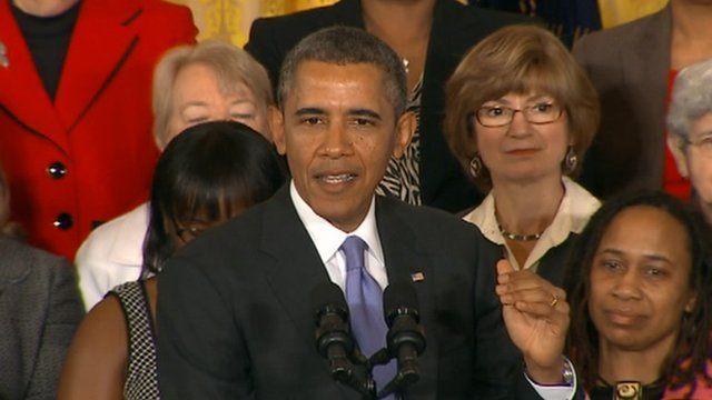 US President Barack Obama appeared in Washington DC on 8 April 2014