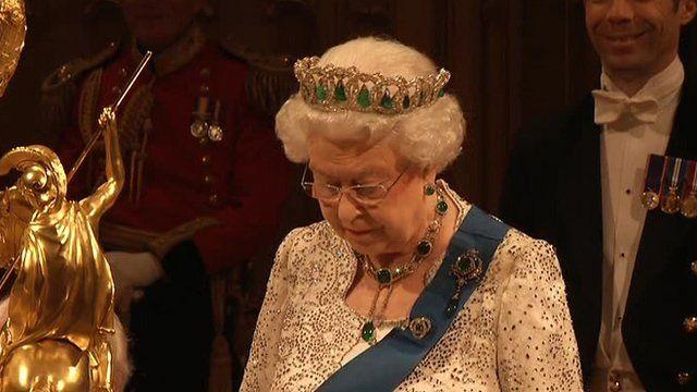 Queen speaking at Windsor Castle