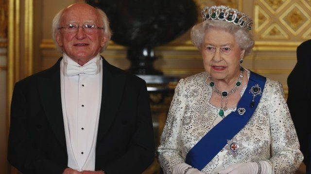 President Higgins and Queen Elizabeth